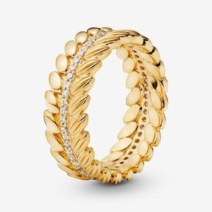 Pandora Wheat Grains Band Ring